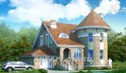 """Фото: «Камелот» - загородный дом с угловой """"башней"""""""