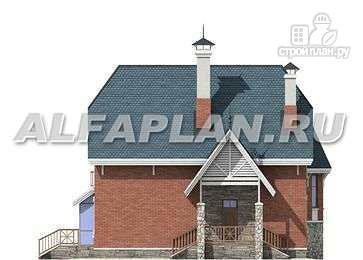 """Фото 9: проект """"Лавиери""""- проект дома с изящным крыльцом и эркером"""