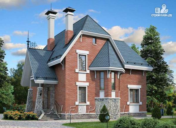 """Фото: проект """"Лавиери""""- проект дома с изящным крыльцом и эркером"""