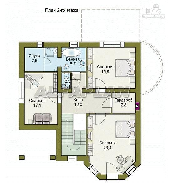 Фото 4: проект «Ювенил» - двухэтажный загородный дом
