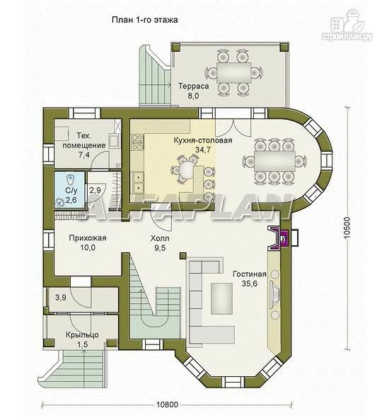 Фото 2: проект «Ювенил» - двухэтажный загородный дом