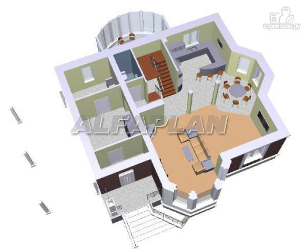 Фото 3: проект «Фаворит» - современный коттедж с высоким эркером