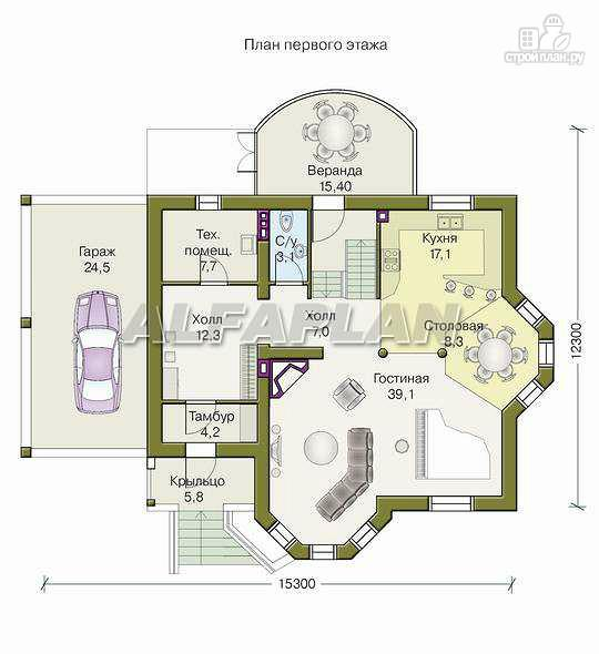 Фото 2: проект «Фаворит» - современный коттедж с высоким эркером