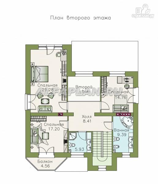 """Фото 3: проект """"Феникс"""" - Двухэтажный коттедж с компактным планом"""