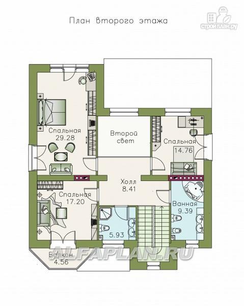 """Фото 4: проект """"Феникс"""" - коттедж с компактным планом и цокольным этажом"""