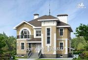"""Фото: """"Феникс"""" - коттедж с компактным планом и цокольным этажом"""