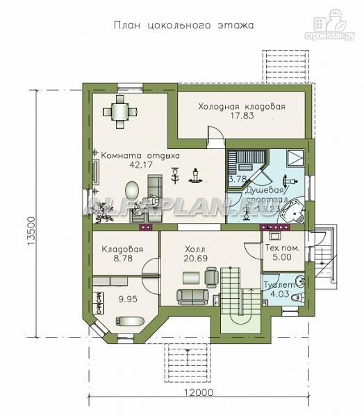 """Фото 2: проект """"Феникс"""" - коттедж с компактным планом и цокольным этажом"""
