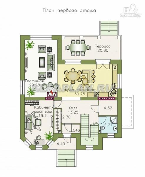 """Фото 3: проект """"Феникс"""" - коттедж с компактным планом и цокольным этажом"""