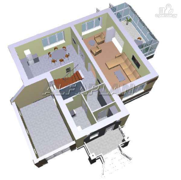 Фото 3: проект дом с окнами в небо