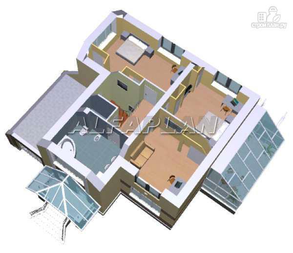Фото 5: проект дом с окнами в небо