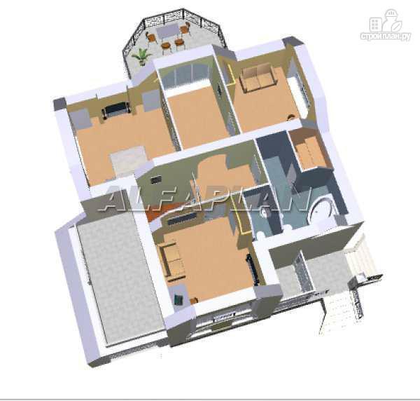 Фото 5: проект загородный дом с компактным планом