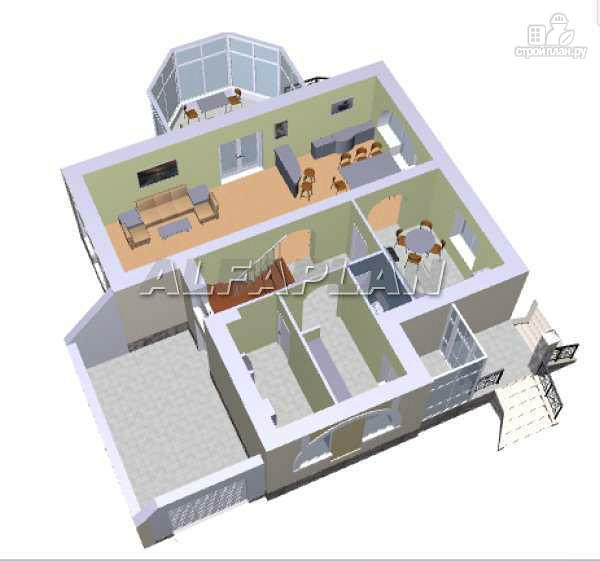 Фото 3: проект загородный дом с компактным планом