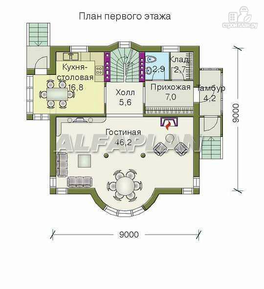 Фото 4: проект «Дом светлячка» - трехэтажный дом с мансардой