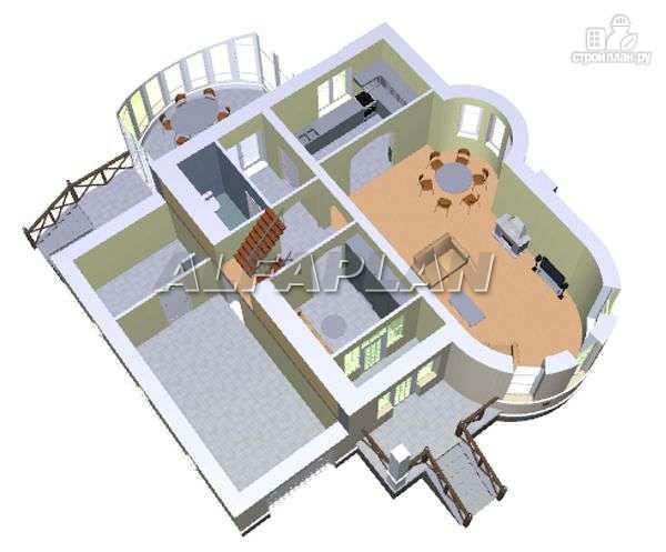 Фото 3: проект «Онегин» - представительный загородный дом