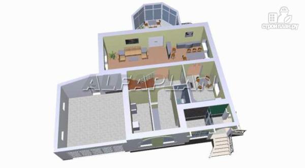 """Фото 3: проект """"Палома"""" - респектабельный особняк с большим гаражом"""