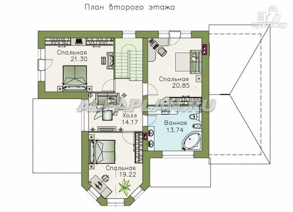 """Фото 3: проект """"Модус Вивенди""""- двухэтажный загородный дом с гаражом"""