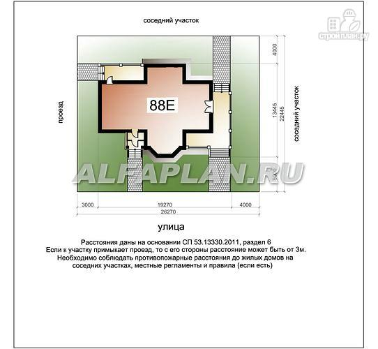 """Фото 8: проект """"Шереметьев"""" - проект дома с большой открытой террасой"""