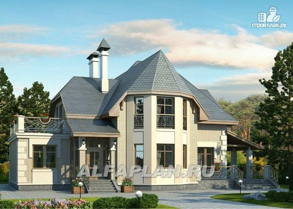 """Фото: проект """"Шереметьев"""" - проект дома с большой открытой террасой"""