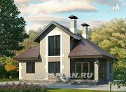 Фото: небольшой дом с верандой и студией в мансарде