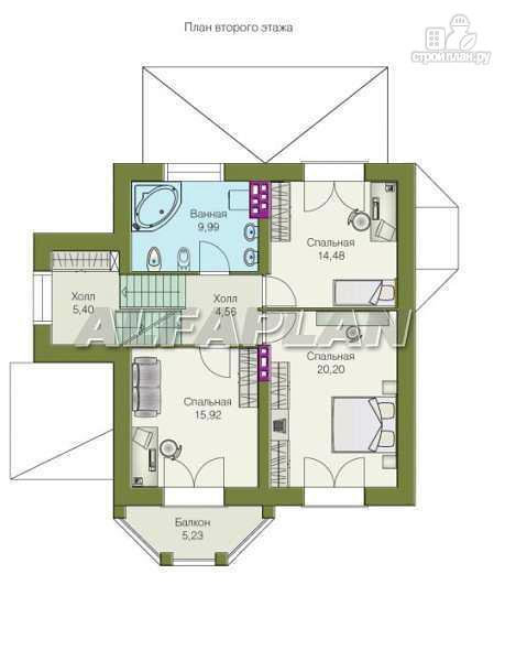"""Фото 6: проект """"Лаура""""- трехэтажный загородный дом с террасой"""
