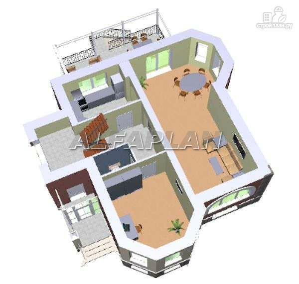 """Фото 5: проект """"Лаура""""- трехэтажный загородный дом с террасой"""