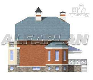"""Фото 9: проект """"Лаура""""- трехэтажный загородный дом с террасой"""