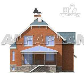"""Фото 10: проект """"Лаура""""- трехэтажный загородный дом с террасой"""