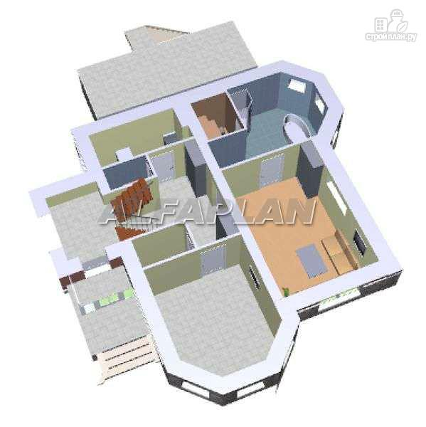 """Фото 3: проект """"Лаура""""- трехэтажный загородный дом с террасой"""