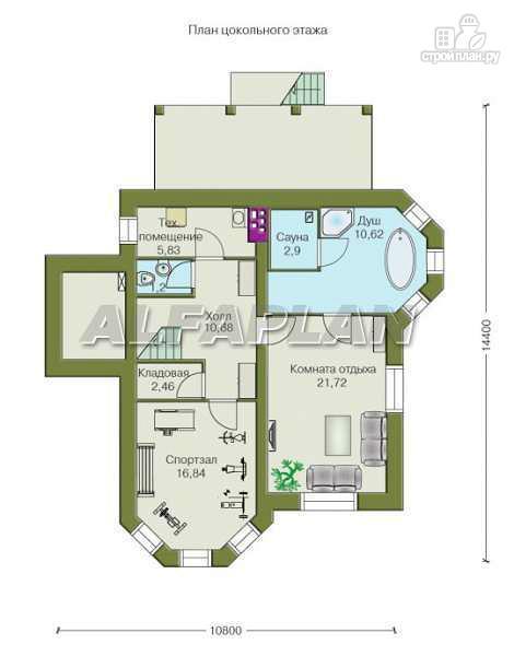 """Фото 2: проект """"Лаура""""- трехэтажный загородный дом с террасой"""