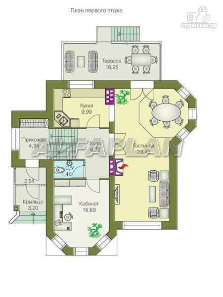 """Фото 4: проект """"Лаура""""- трехэтажный загородный дом с террасой"""