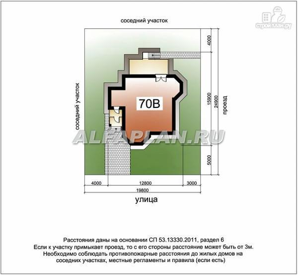"""Фото 12: проект """"Лаура""""- трехэтажный загородный дом с террасой"""