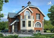 """Проект """"Лаура""""- трехэтажный загородный дом с террасой"""