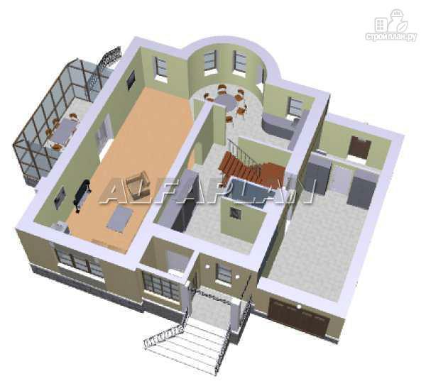 Фото 3: проект «Суперстилиса» - удобный дом с рациональной планировкой