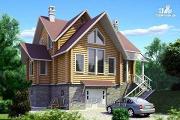 Проект «Усадьба» - деревянный коттедж из оцилиндрованного бревна