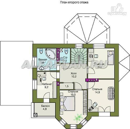 """Фото 4: проект """"Классика плюс"""" - классический особняк с цокольным этажом"""