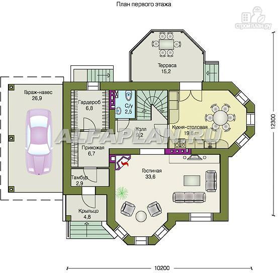 """Фото 3: проект """"Классика плюс"""" - классический особняк с цокольным этажом"""