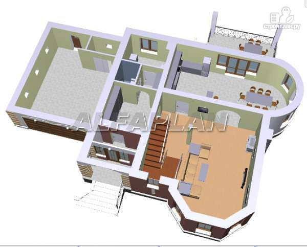 Фото 3: проект «Ювенил» - загородный дом с большим гаражом