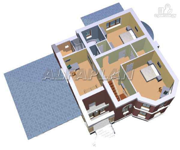 Фото 5: проект «Ювенил» - загородный дом с большим гаражом