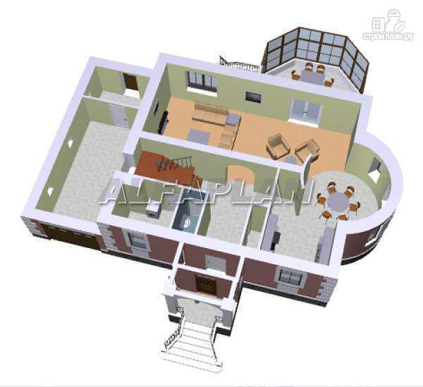 Фото 3: проект «Эвита» - респектабельный дом с гаражом