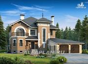 """Проект """"Феникс-плюс"""" - коттедж с большим гаражом и цокольным этажом"""