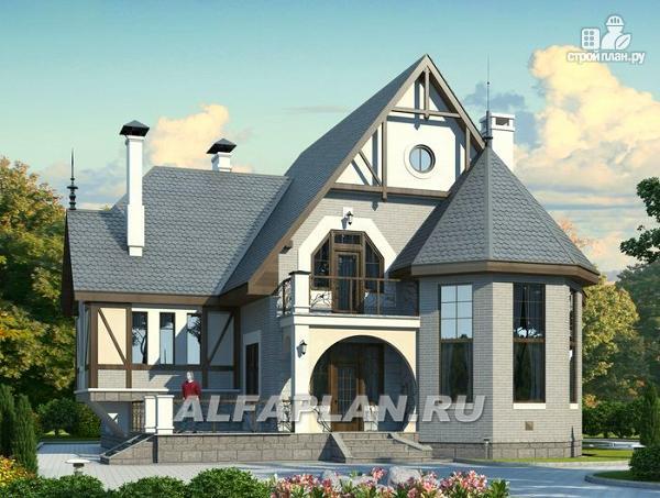 """Фото: проект """"Пенаты"""" - дом с богатой живописной архитектурой"""
