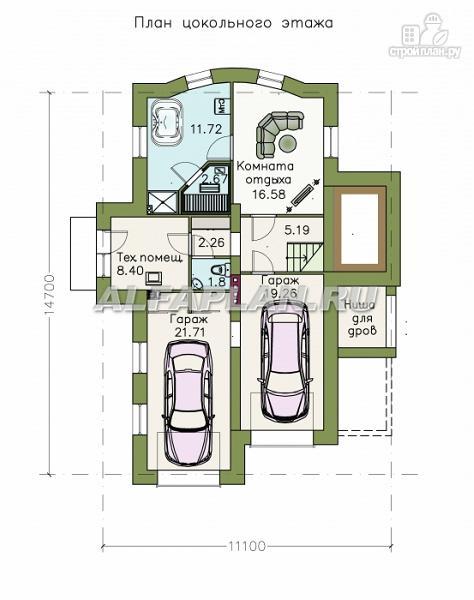 Фото 2: проект комфортабельный дом с компактным планом для небольшого участка