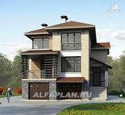 Проект комфортабельный дом с компактным планом для небольшого участка