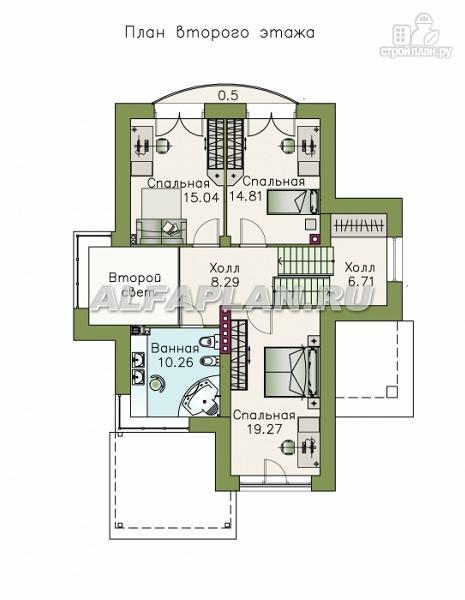 Фото 4: проект комфортабельный дом с компактным планом для небольшого участка