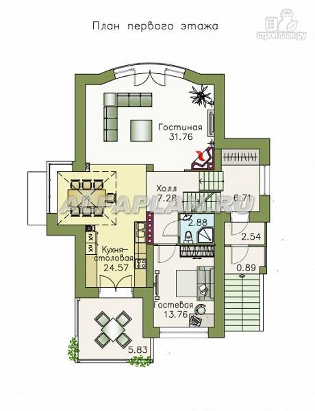 Фото 3: проект комфортабельный дом с компактным планом для небольшого участка