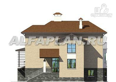 Фото 7: проект комфортабельный дом с компактным планом для небольшого участка