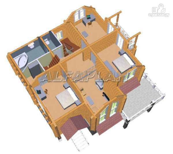 Фото 7: проект «Транк Хаус» - деревянный дом с террасой