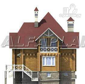 Фото 10: проект «Транк Хаус» - деревянный дом с террасой