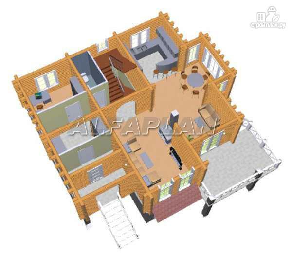 Фото 5: проект «Транк Хаус» - деревянный дом с террасой
