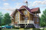 Проект «Транк Хаус» - деревянный дом с террасой